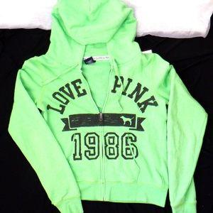 Victoria Secret Pink green 1986 hoodie
